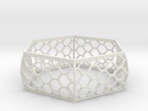 Hexagon Bracelet in White Natural Versatile Plastic