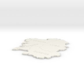 I3D GALICIA: A Coruña, Lugo,Ourense and Pontevedra in White Natural Versatile Plastic