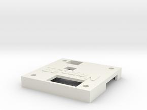 Naze32 rev5 case - top half, straight pins in White Natural Versatile Plastic