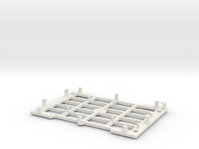 Rasberry Pi base in White Natural Versatile Plastic