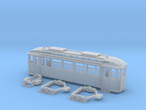 Tram Leipzig Typ24a Spur H0 (1:87) in Smooth Fine Detail Plastic