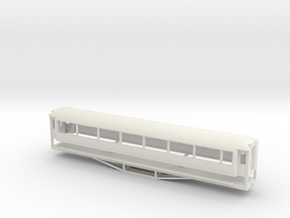 AO Carriage, New Zealand, (S Scale, 1:64) in White Natural Versatile Plastic