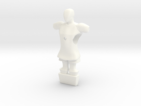 Foosball puppet in White Strong & Flexible Polished