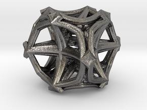 Fractal Cubic Star  MC4 in Polished Nickel Steel