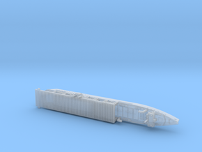 USS Langley 1/1800 in Smooth Fine Detail Plastic