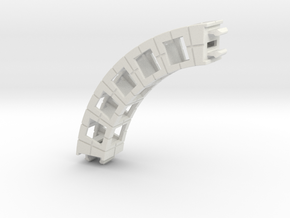 Rokenbok Small Curved Beam in White Strong & Flexible