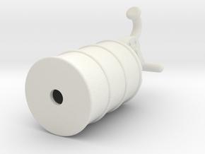 Rokenbok Lube Pump in White Natural Versatile Plastic