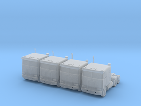 Kenworth Cabover Semi Truck - Set - Nscale in Smooth Fine Detail Plastic