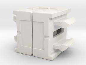 Rokenbok Axle Block in White Natural Versatile Plastic