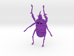 Giant Beetle - Goliath 7cm - Scarab in Purple Strong & Flexible Polished