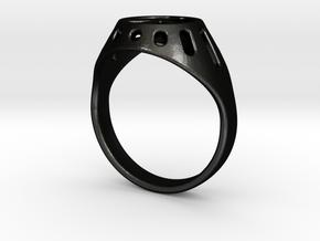 Joviart Peace Ring 02 - D17,5mm in Matte Black Steel