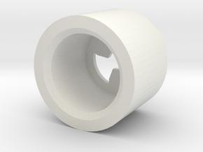 MBPI-B753-TRI in White Natural Versatile Plastic