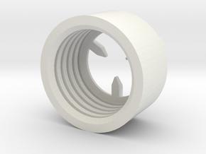 MBPI-B11-TRI in White Natural Versatile Plastic