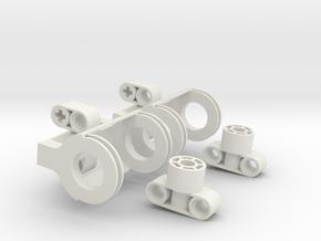 Tatra Axle V2 in White Natural Versatile Plastic