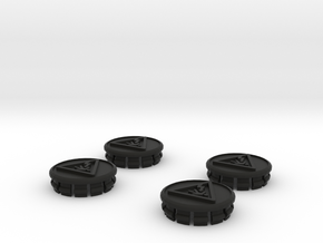 4 X Toyota Prius G3 Wheel Center Cap - Shock in Black Strong & Flexible