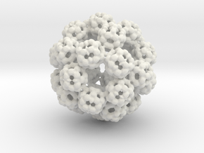 Julia Set Dodecahedron in White Natural Versatile Plastic