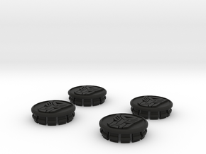 4 X Toyota Prius G3 Wheel Center Cap - Autobot in Black Strong & Flexible