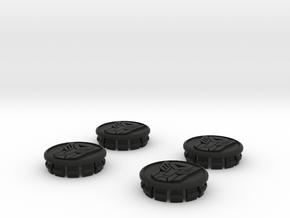4 X Toyota Prius G3 Wheel Center Cap - Autobot in Black Strong & Flexible