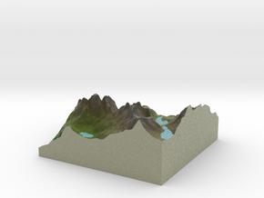 Terrafab generated model Tue Jan 19 2016 23:10:26  in Full Color Sandstone