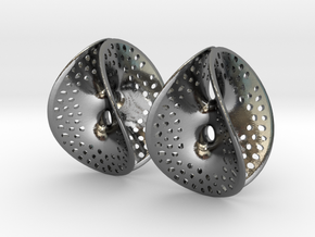 Small Perforated Chen-Gackstatter Thayer Earring in Polished Silver