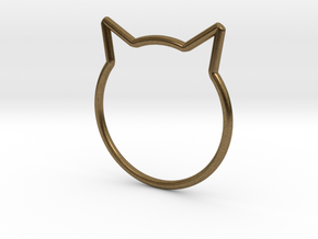 "Cat Ear Ring ""Büsi"" in Natural Bronze"