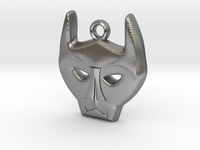 Bat Mask Charm in Natural Silver