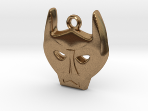 Bat Mask Charm in Natural Brass