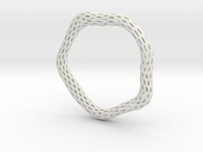 Irregular Bracelet (Size L) in White Natural Versatile Plastic