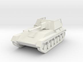 Vehicle- SU-76M Self-Propelled Gun (1/87th) in White Natural Versatile Plastic