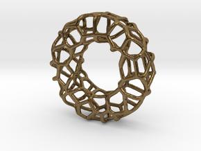 Organic Circle Pendant 2 in Natural Bronze