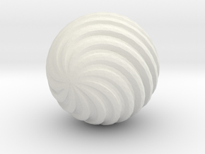 Wave Ball in White Natural Versatile Plastic