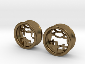 Shikigami Tunnels 1 inch gauge in Natural Bronze