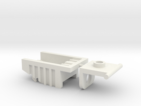Kreon Addon - Dump Truck Bed in White Natural Versatile Plastic