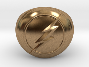 Flash Ring in Natural Brass