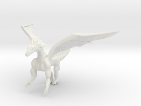 Shape Way Dragon in White Strong & Flexible