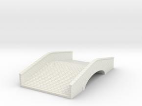 Sandstone Bridge (25mm scale) in White Natural Versatile Plastic