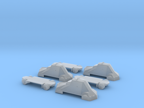 Kubus Final (pack of three) 1:100 scale 15mm in Smooth Fine Detail Plastic
