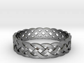 Rohkea Bold Celtic Knot Size 8 in Fine Detail Polished Silver