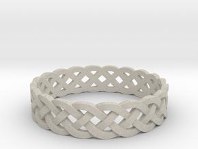 Rohkea Bold Celtic Knot Size 8 in Natural Sandstone