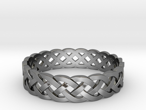 Rohkea Bold Celtic Knot Size 11 in Fine Detail Polished Silver