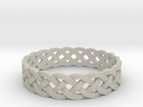 Rohkea Bold Celtic Knot Size 6 in Natural Sandstone