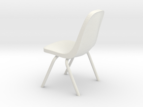 1:24 Plastic Scoop Chair (Not Full Size) in White Natural Versatile Plastic