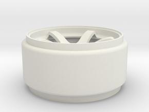 REAR ADVAN in White Natural Versatile Plastic