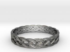 Hieno Delicate Celtic Knot Size 7 in Fine Detail Polished Silver