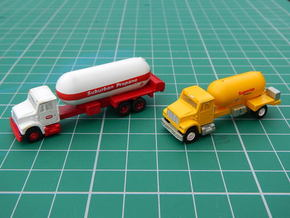 Propane Truck Bodies in Smooth Fine Detail Plastic