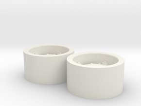 1:64 scale Wheels  for 18.4-30 tires in White Natural Versatile Plastic