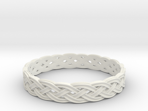 Hieno Delicate Celtic Knot Size 8 in White Strong & Flexible
