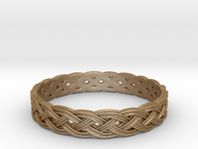 Hieno Delicate Celtic Knot in Matte Gold Steel