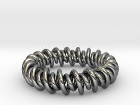 GW3Dfeatures Bracelet A in Fine Detail Polished Silver