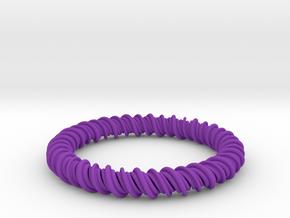 GW3Dfeatures Bracelet A2 in Purple Processed Versatile Plastic